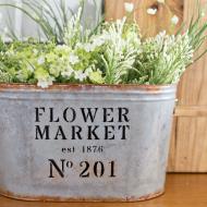 DIY Metal Flower Market Bucket
