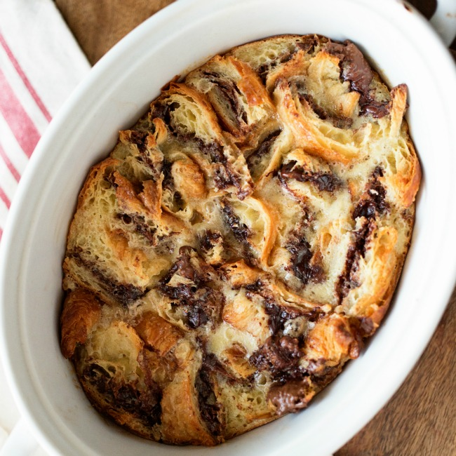 Nutella Bread Pudding | A Night Owl Blog