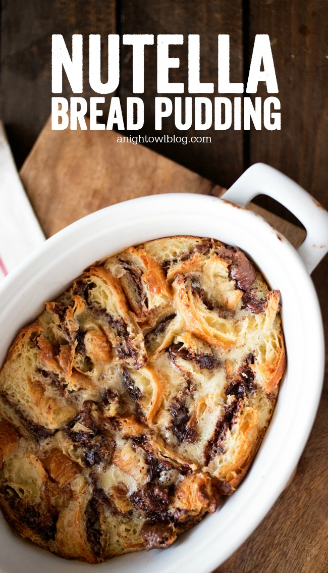 This Nutella Bread Pudding is simple and delicious, perfect for weekend brunch!