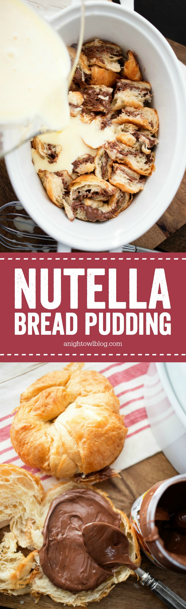 This Nutella Bread Pudding is simple and delicious, perfect for ...