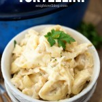 One Pot Chicken Alfredo Tortellini - a delicious and easy meal that you can make in 30 minutes and in just one pot!