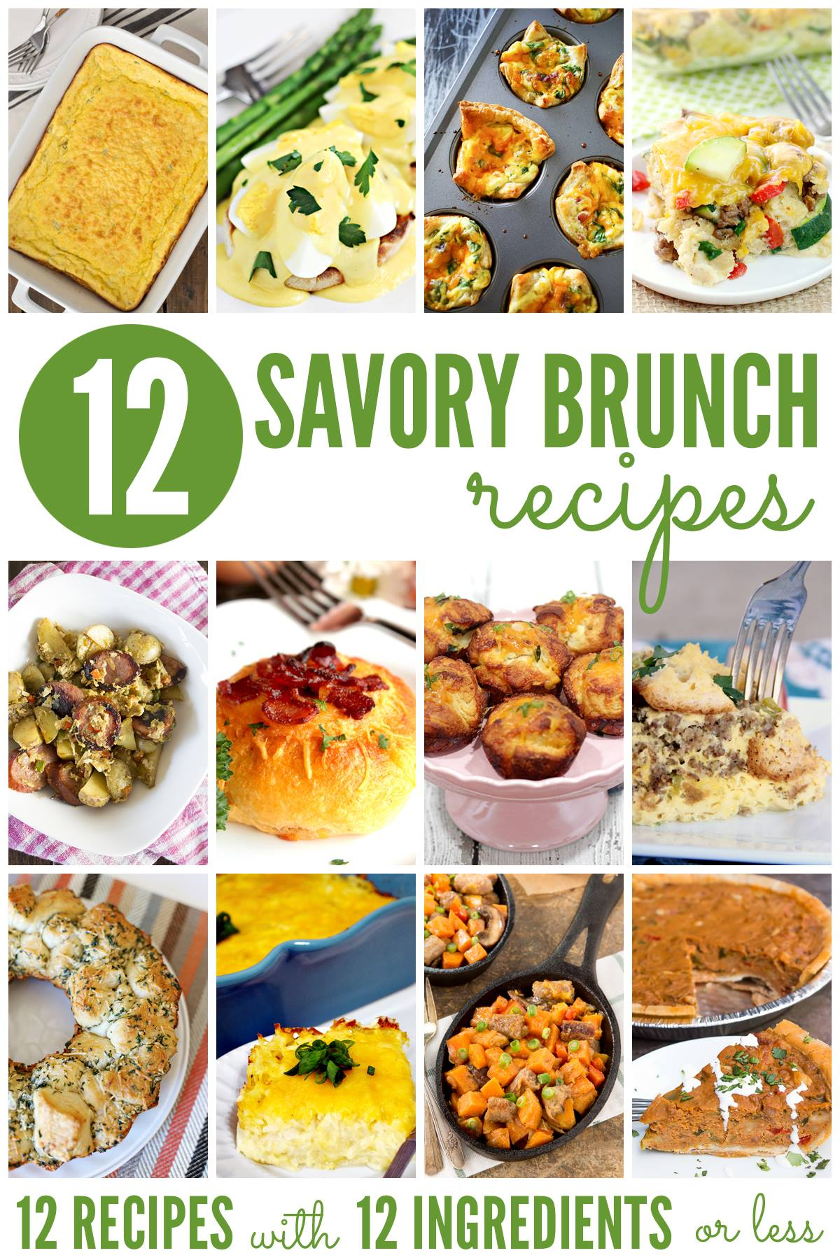 A delicious list of Savory Brunch Recipes!