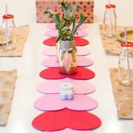 Valentines DIY Table Runner