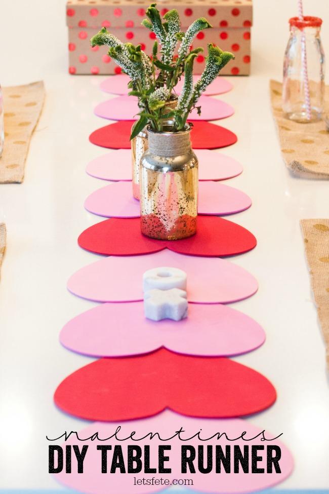 Valentines Diy Table Runner