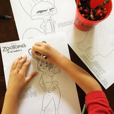 Download FREE Zootopia Coloring Sheets