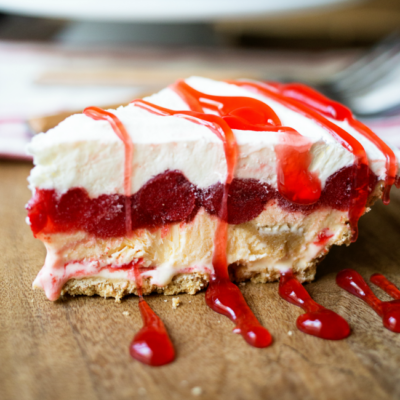 This delicious Cherry Cheesecake Ice Cream Pie is easy to make and so tasty! Perfect for spring and summer get togethers!