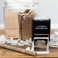 Give your favorite teacher something they can really use this year - a customized stamp from Expressionery! Package it up with fun stationery goodies and pop them in a jar for a unique gift they're sure to love!