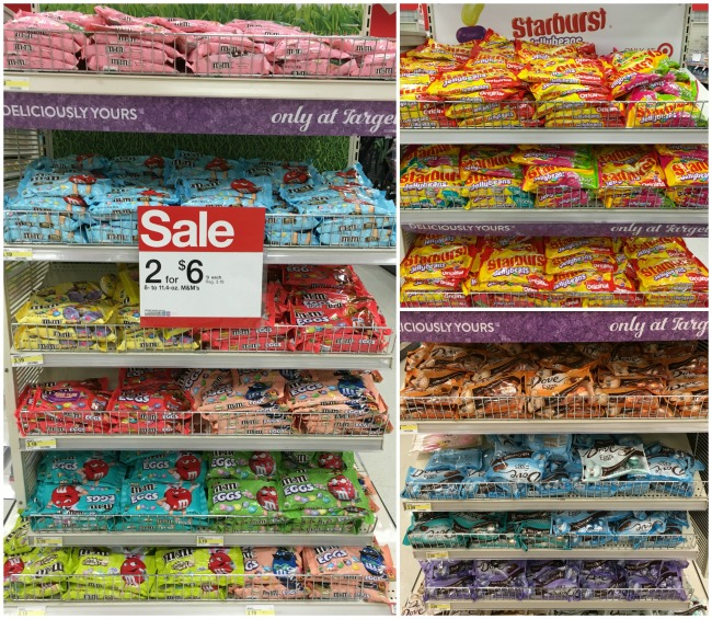 Mars and Wrigley Candy at Target Endcaps