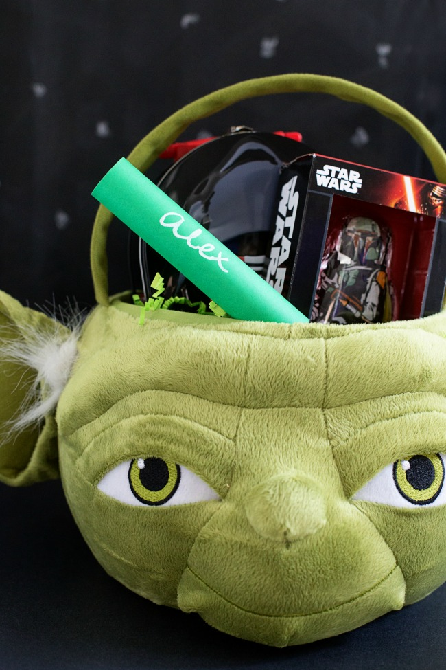Put together Star Wars Easter Baskets this Easter for your little padawans!