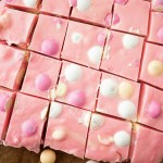 This Strawberry Shortcake Fudge is a quick and easy spring treat featuring delicious Strawberry Shortcake M&M's!