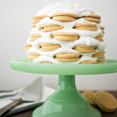 When life gives you lemons...make a Sweet Cream and Lemon Icebox Cake! Delicious lemon cookies layered with sweet and fluffy whipped cream.