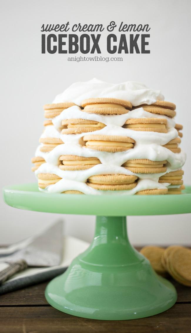 Sweet Cream and Lemon Icebox Cake | A Night Owl Blog