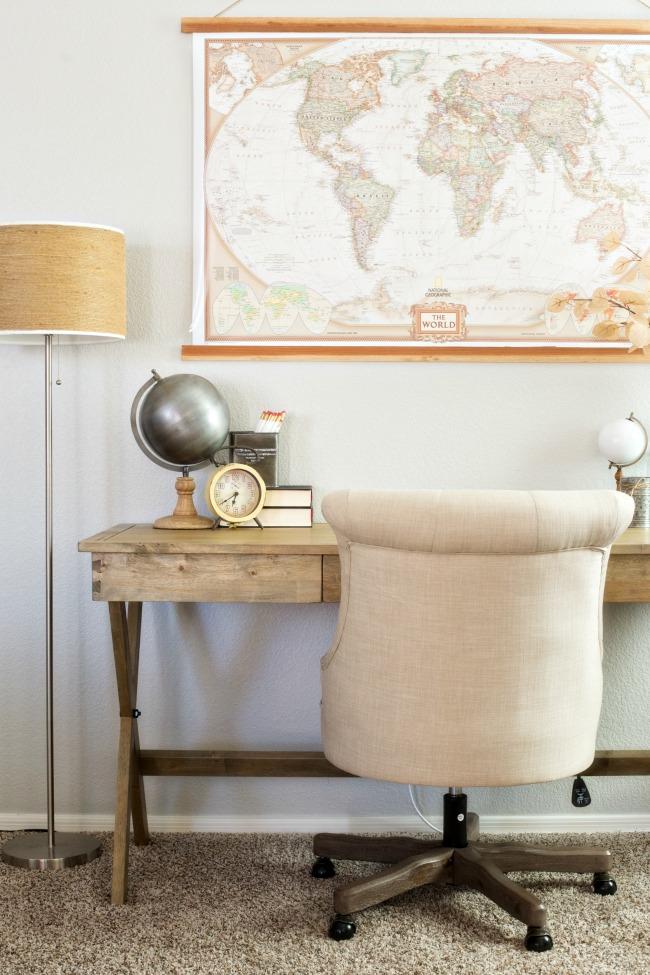 Warm Neutral Home Office A Night Owl Blog