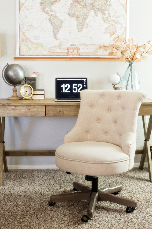 Create A Warm And Neutral Home Office Space With Affordable Finds From Cost  Plus World Market ...