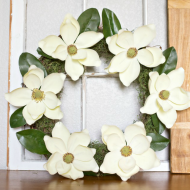 Create your very own DIY Magnolia Wreath for beautiful spring decor!