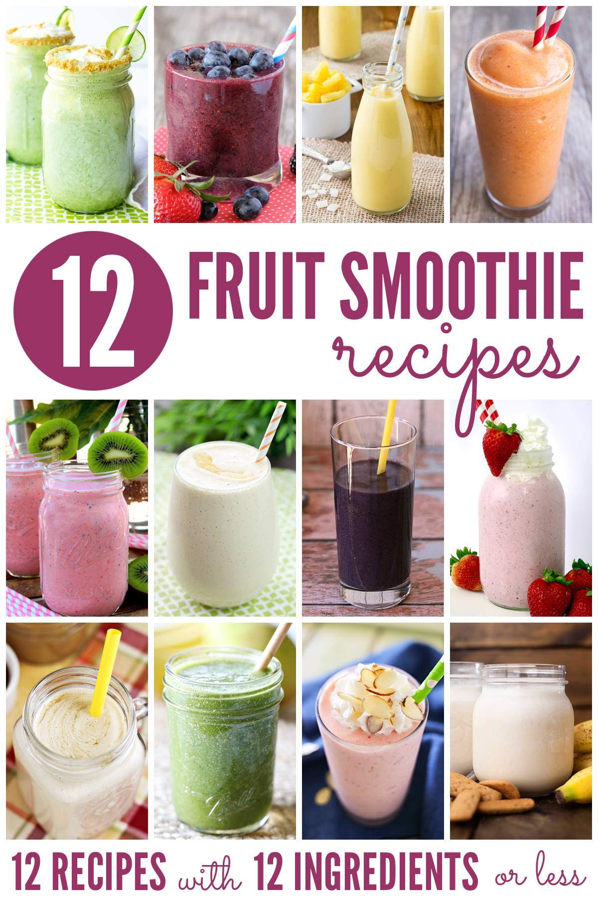 Such a great list of delicious Fruit Smoothie Recipes!