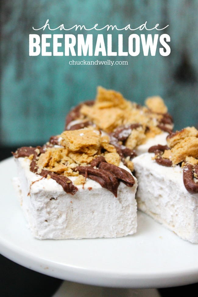 Homemade Beermallows - beer-flavored marshmallows make for tasty treats or extra-yummy s'mores.