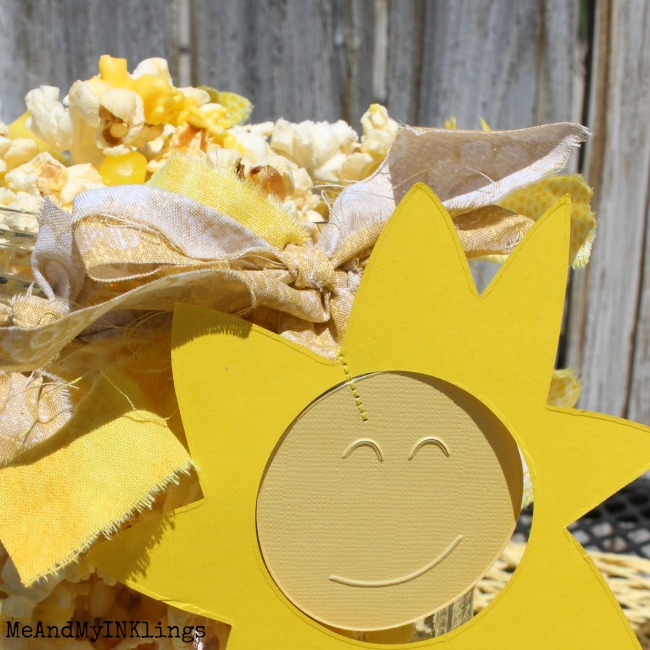 Perfect for summer parties, You Are My Sunshine Party Decorations are fun, festive and easy to put together with Sizzix dies.