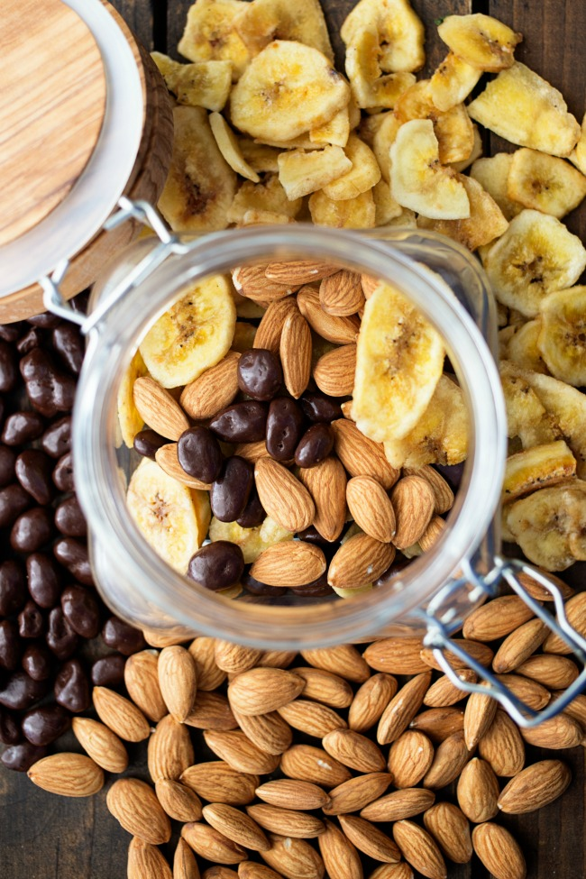 This Chunky Monkey Snack Mix is fun and tasty! Perfect for the kids or better-for-you snacking!