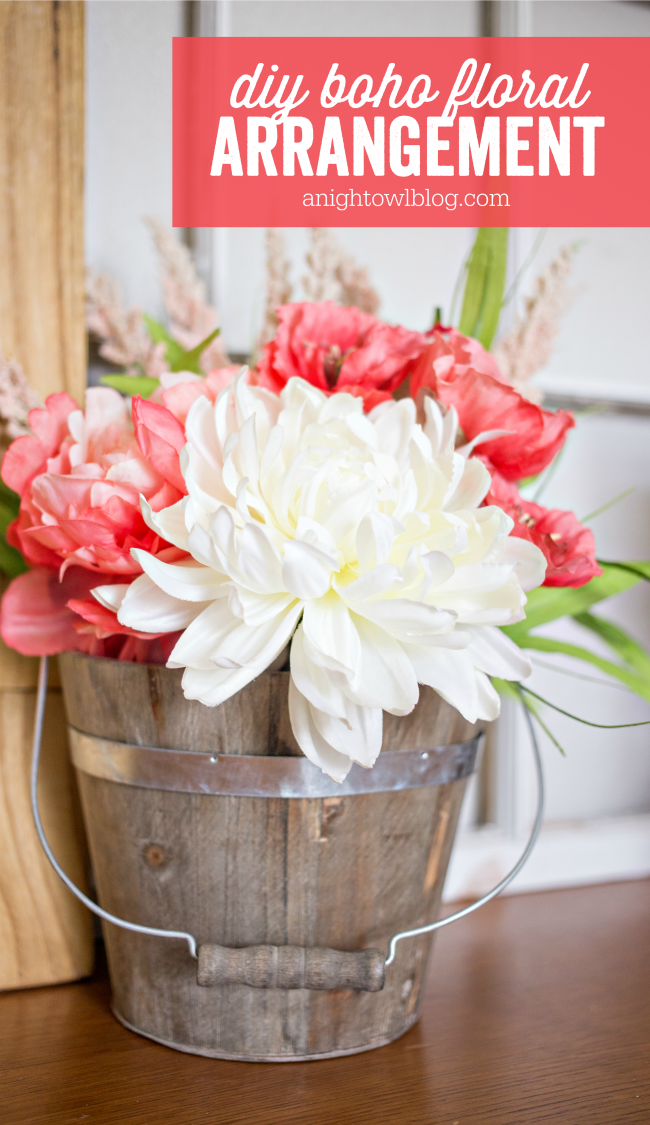 Diy Boho Flower Arrangement A Night Owl Blog