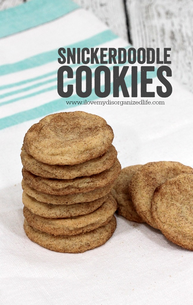 These Snickerdoodle Cookies are chewy cookies topped with cinnamon and sugar and taste just like grandmas!