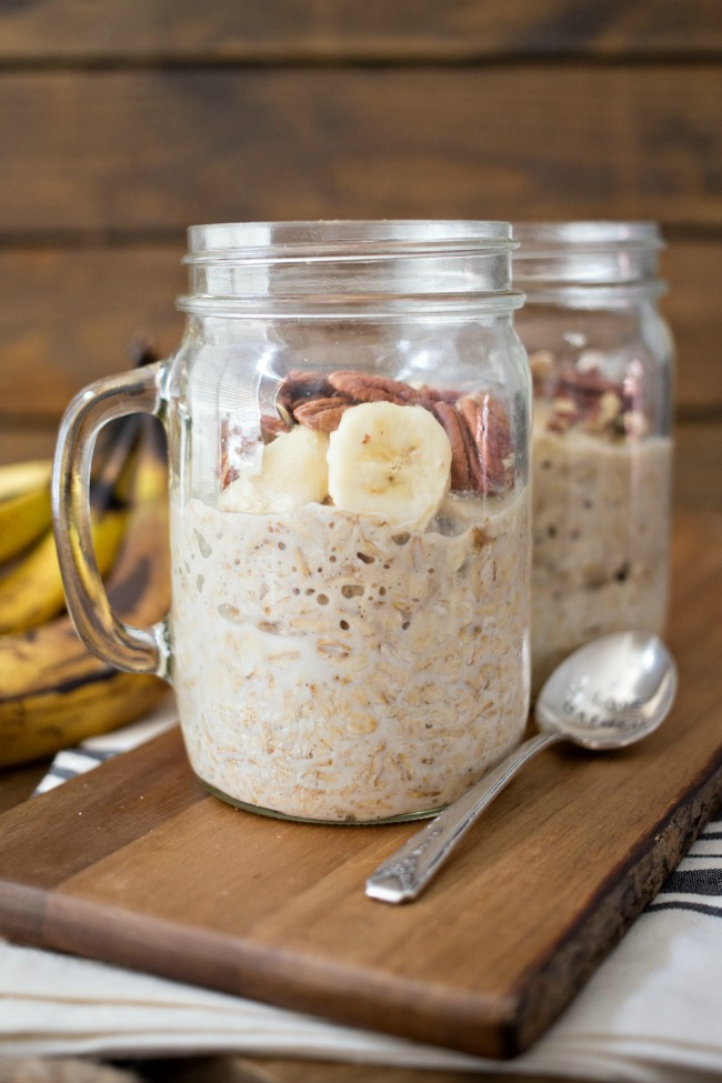 Banana Nut Overnight Oats are a delicious and easy start to your day!