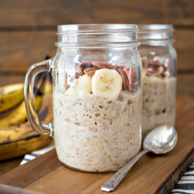 Banana Nut Overnight Oats is a delicious and easy start to your day!