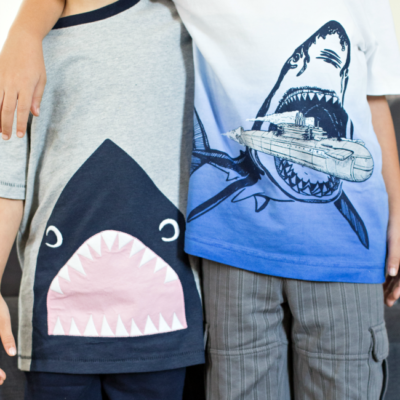 Fun Shark Week Outfit Ideas for your kiddos from the Gymboree Jawsome collection!