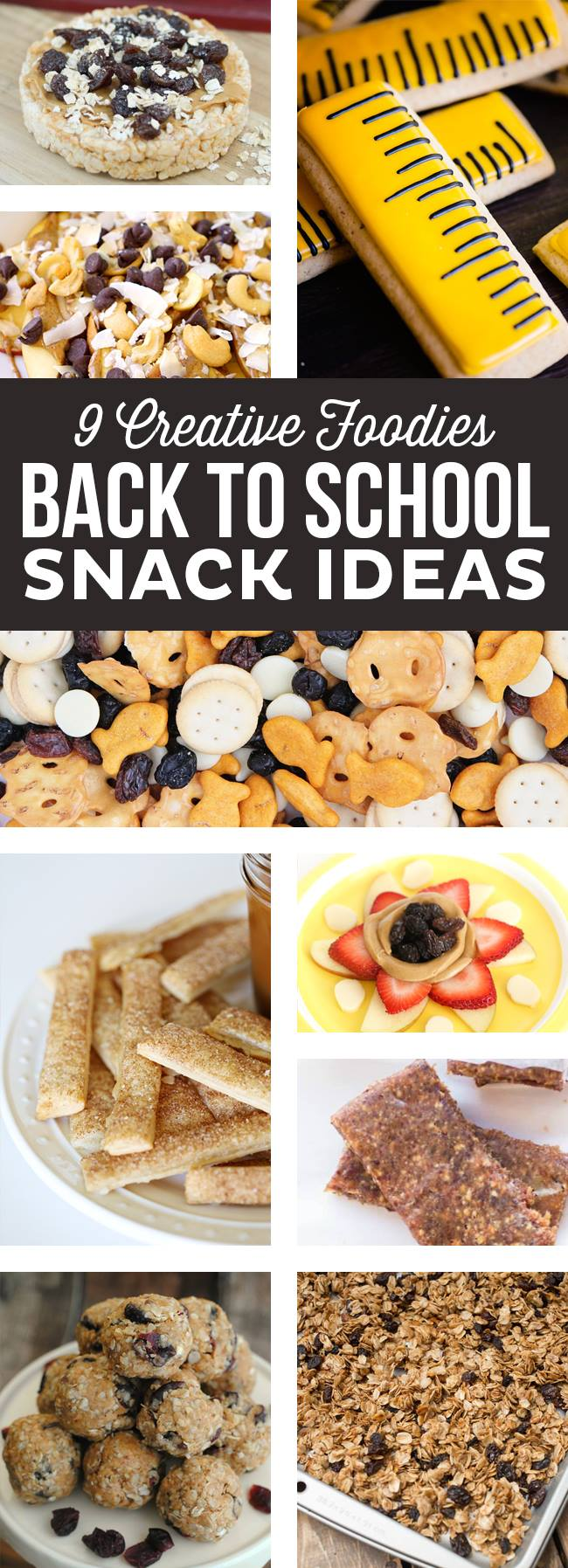 So many great Back to School snack ideas - perfect for lunchboxes and after school snacks!