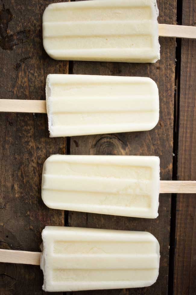 Piña Colada Popsicles - just 3 ingredients is all you need and you're on your way to a cool, delicious treat!