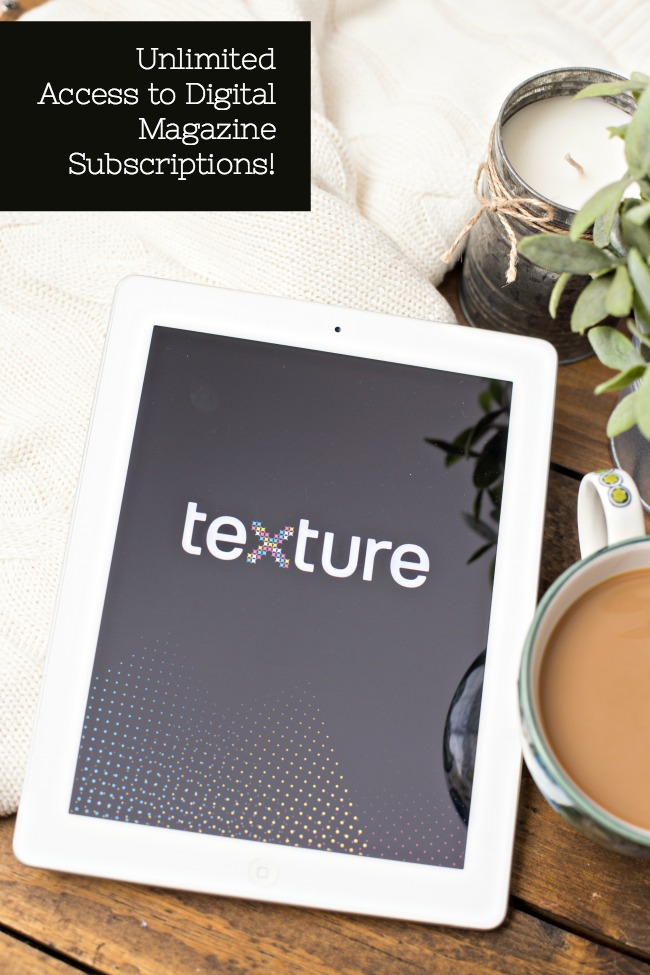 The Texture app gives you unlimited access to all of your favorite digital magazine subscriptions! Perfect for reading without all the clutter!