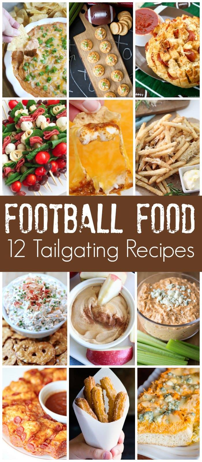 Football Food! A collection of twelve tasty tailgating treats!