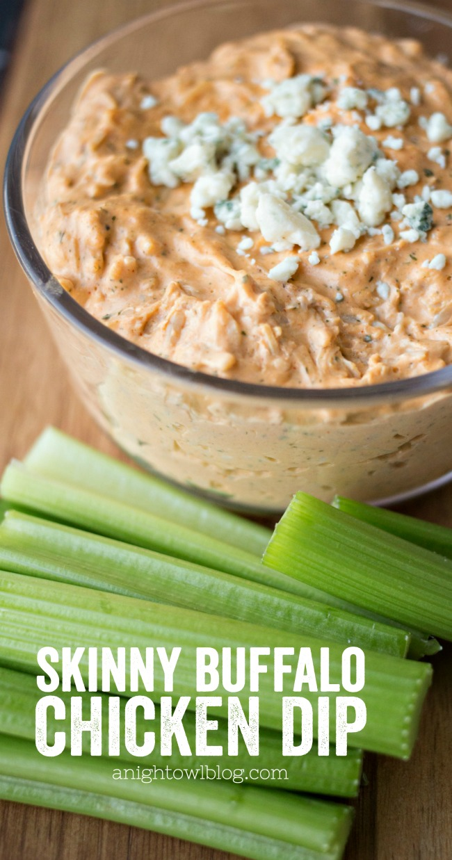 This Skinny Buffalo Chicken Dip allows you to indulge in all the taste of your favorite game day appetizer without the guilt!