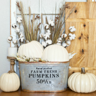 DIY Farmhouse Pumpkin Bucket