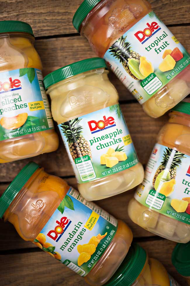 New DOLE Jarred Fruit is delicious and lets you enjoy quality fruit on demand!