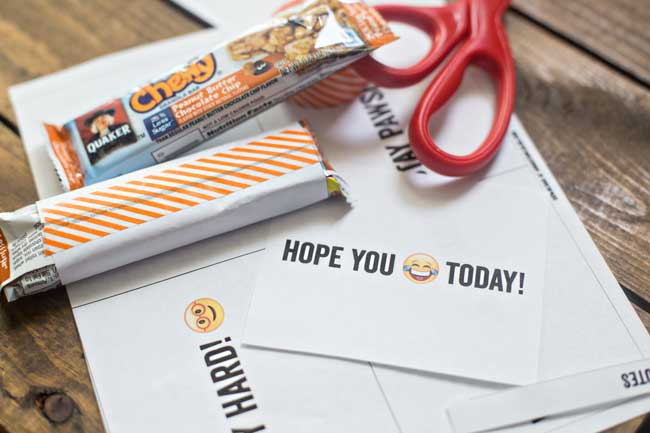 Quaker Chewy Granola Bars and Printable Lunchbox Notes | A ...