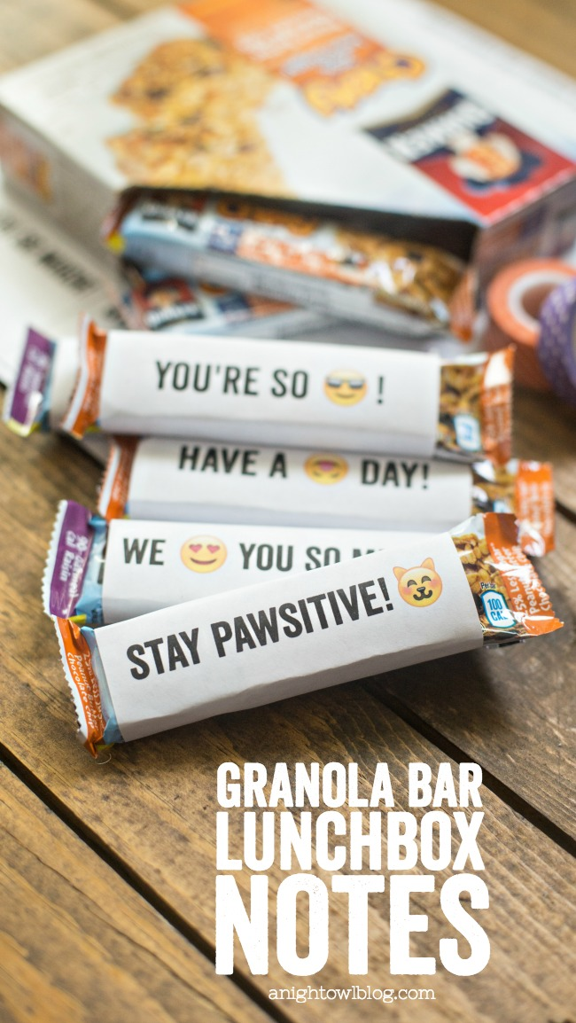 Quaker Chewy Granola Bars And Printable Lunchbox Notes A Night Owl