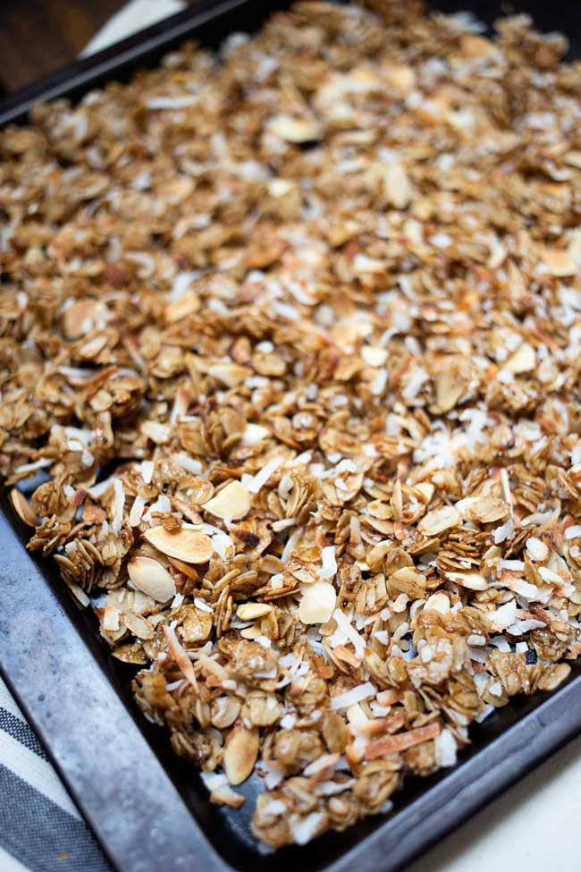 This Toasted Coconut Granola is easy to make and is perfect to add to your breakfast or snack routine!