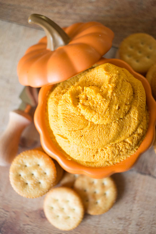 This Easy Pumpkin Hummus with RITZ Crackers are the perfect way to welcome and savor all the flavors of fall!