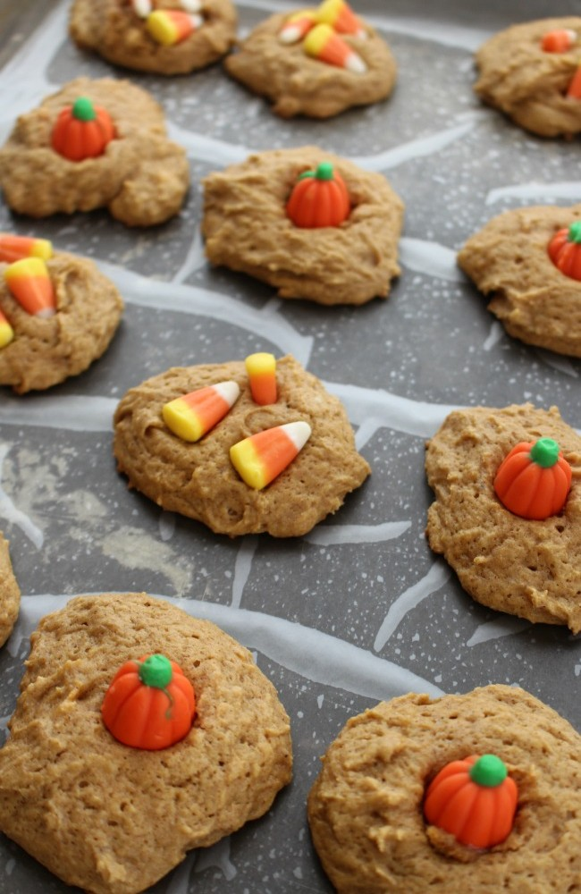 These Pumpkin Sugar Cookies are so easy to make - start with a mix, add a few ingredients and bake!