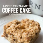 This Apple Cinnamon Coffee Cake is a delicious start to your day! Perfect for breakfast or brunch during the holidays!