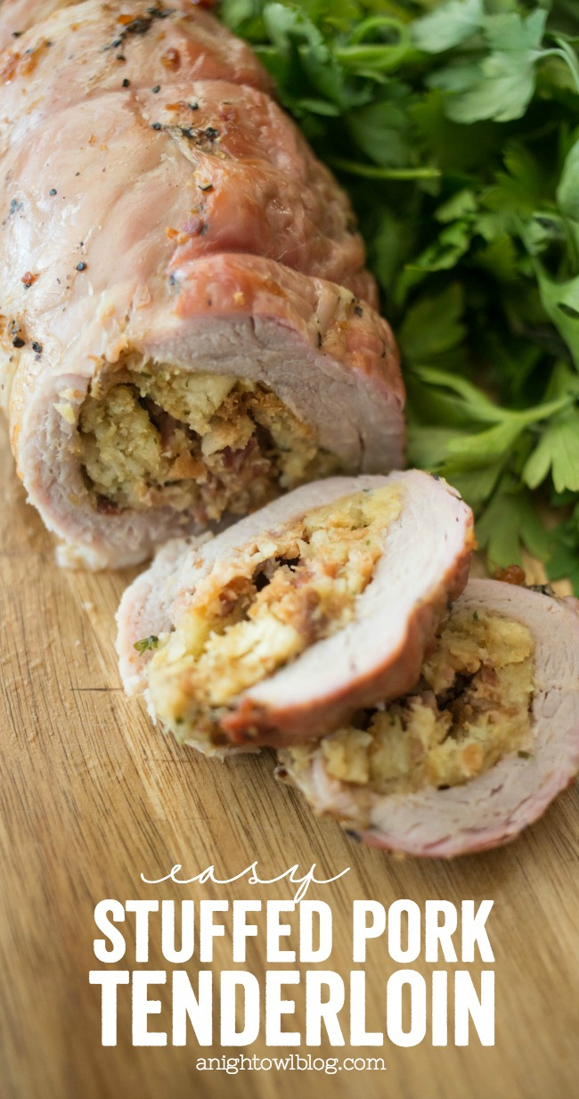 During the busy holiday season, this Easy Stuffed Pork Tenderloin is a delicious, quick and easy dinner you can make in just 30 minutes! It will be a new family favorite!