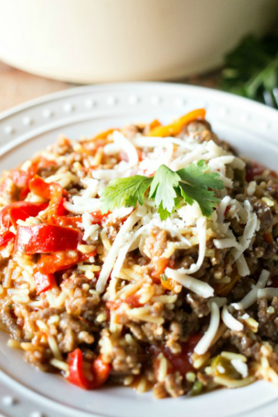 This One Pot Italian Sausage and Peppers meal with Knorr® Rice Sides is easy and packed full of flavor. Perfect for weeknight dinners!