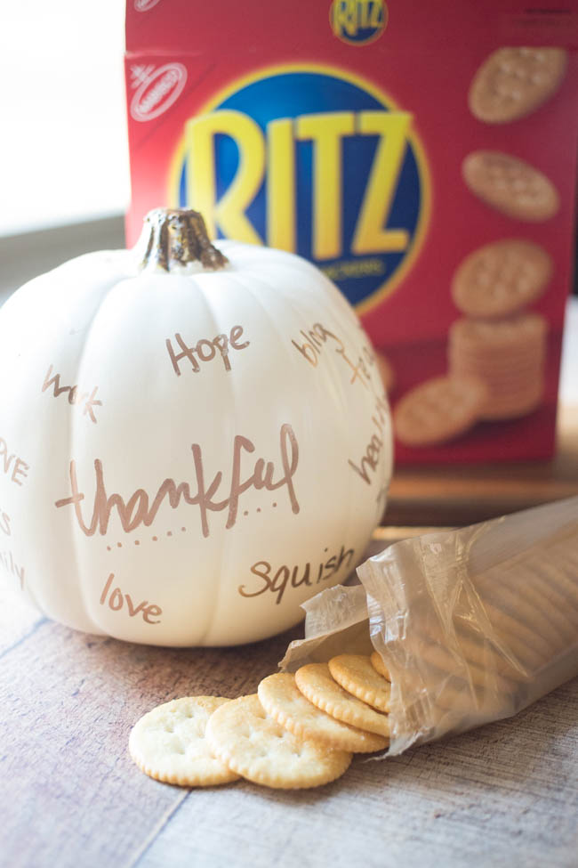 Create a Thankful Pumpkin with your family this year to list all the things you're thankful for!