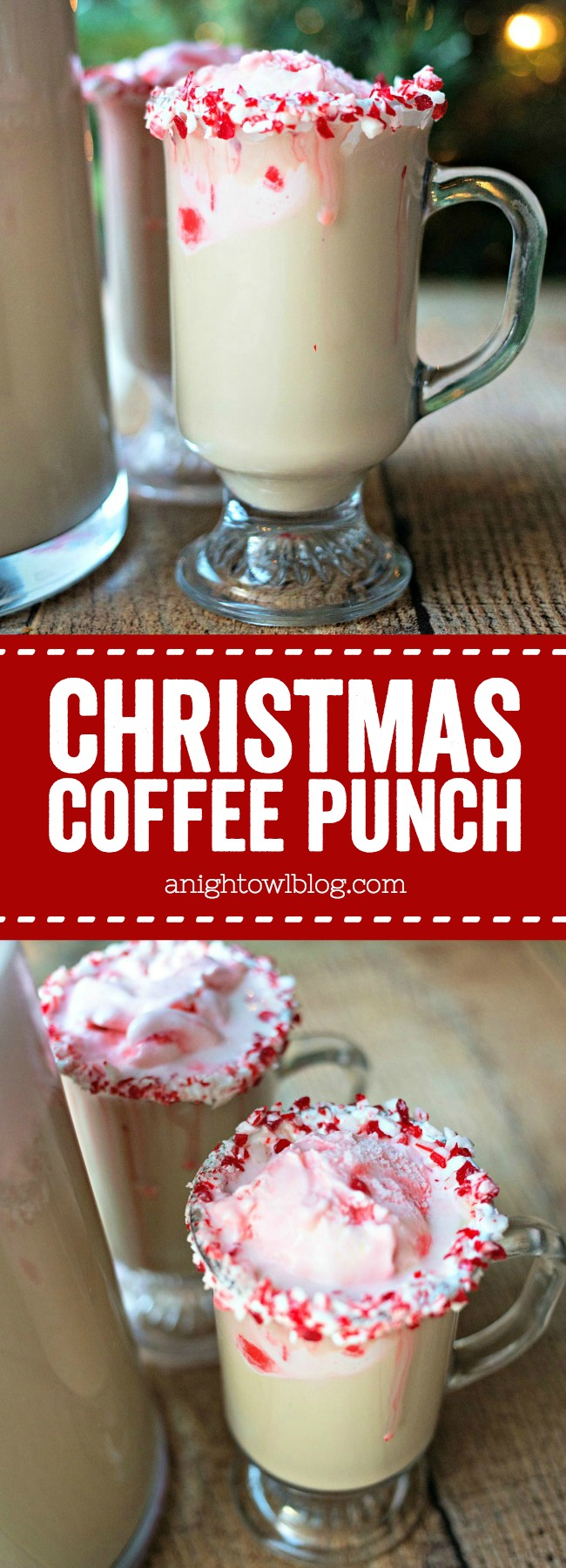 Perfect for holiday entertaining, this Christmas Coffee Punch is easy, festive and delicious! Just a few simple ingredients and this punch will be the talk of the party!
