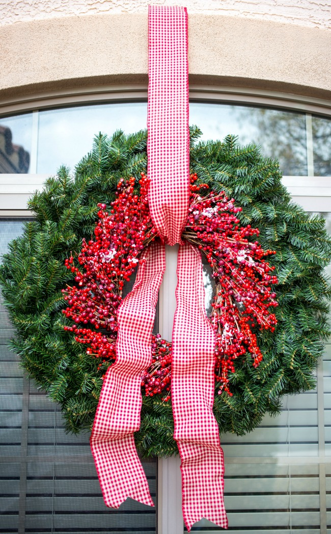 "Make a beautiful, large statement wreath for your home with this easy ""hack!"""