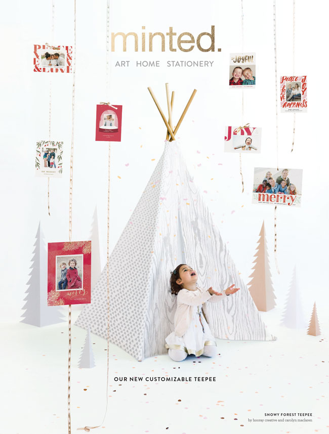 The Holidays with Minted just got prettier! Order everything you need from Holiday Cards, charming art gifts, adorable teepes and other goods for your curated home!