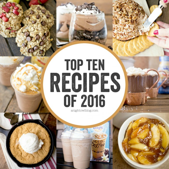 A collection of the best recipes of 2016 at www.anightowlblog.com!