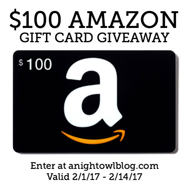 Enter to WIN a $100 Amazon Gift Card at anightowlblog.com!