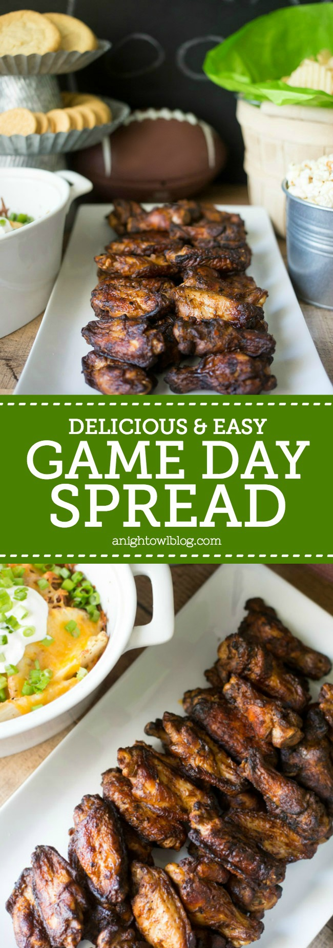 Put together a delicious and easy Game Day Spread with these simple tips and Cooked Perfect Premium Fire Grilled Wings!